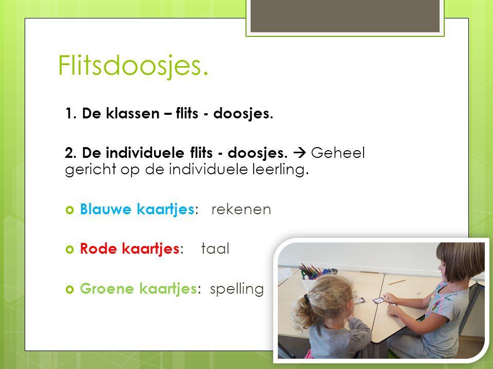 Flitsdoosjes. 1. De klassen – flits - doosjes.
