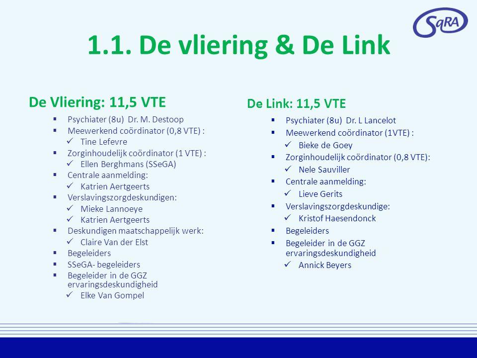 1.1. De vliering & De Link De Vliering: 11,5 VTE De Link: 11,5 VTE