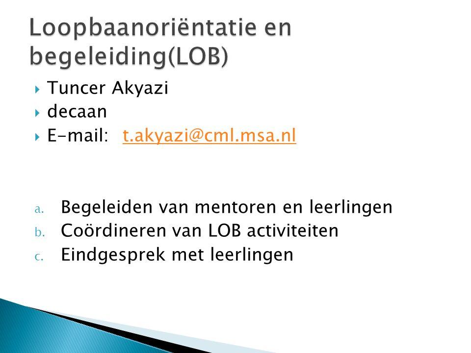 Loopbaanoriëntatie en begeleiding(LOB)