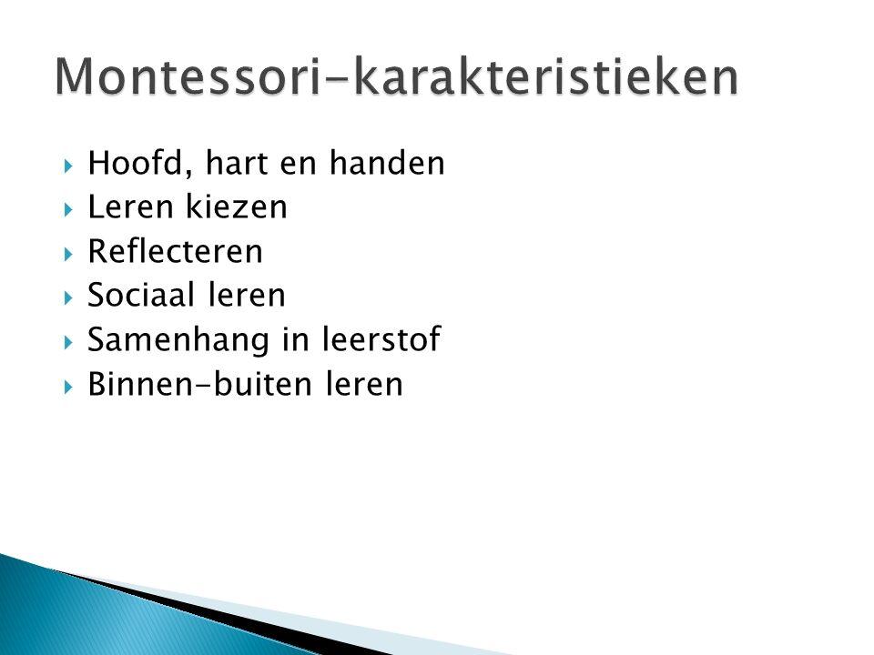 Montessori-karakteristieken