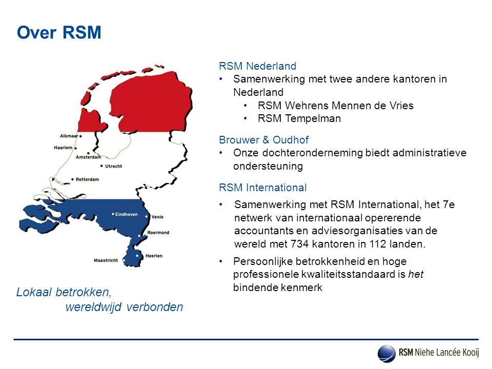 Over RSM Lokaal betrokken, wereldwijd verbonden RSM Nederland