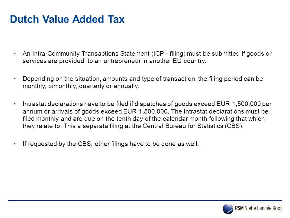 Dutch Value Added Tax
