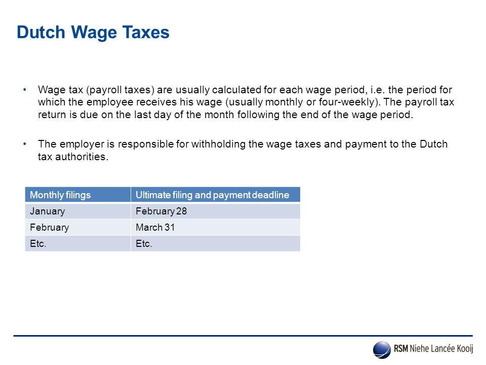 Dutch Wage Taxes
