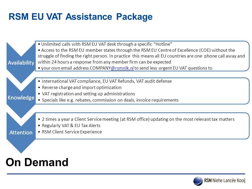 RSM EU VAT Assistance Package