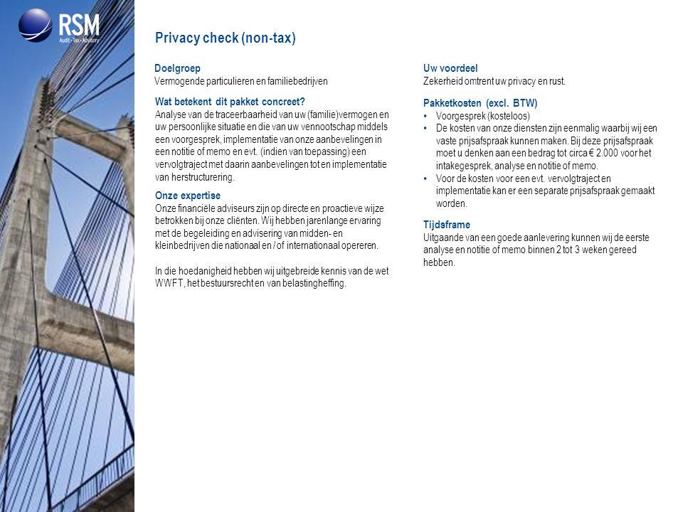 Privacy check (non-tax)