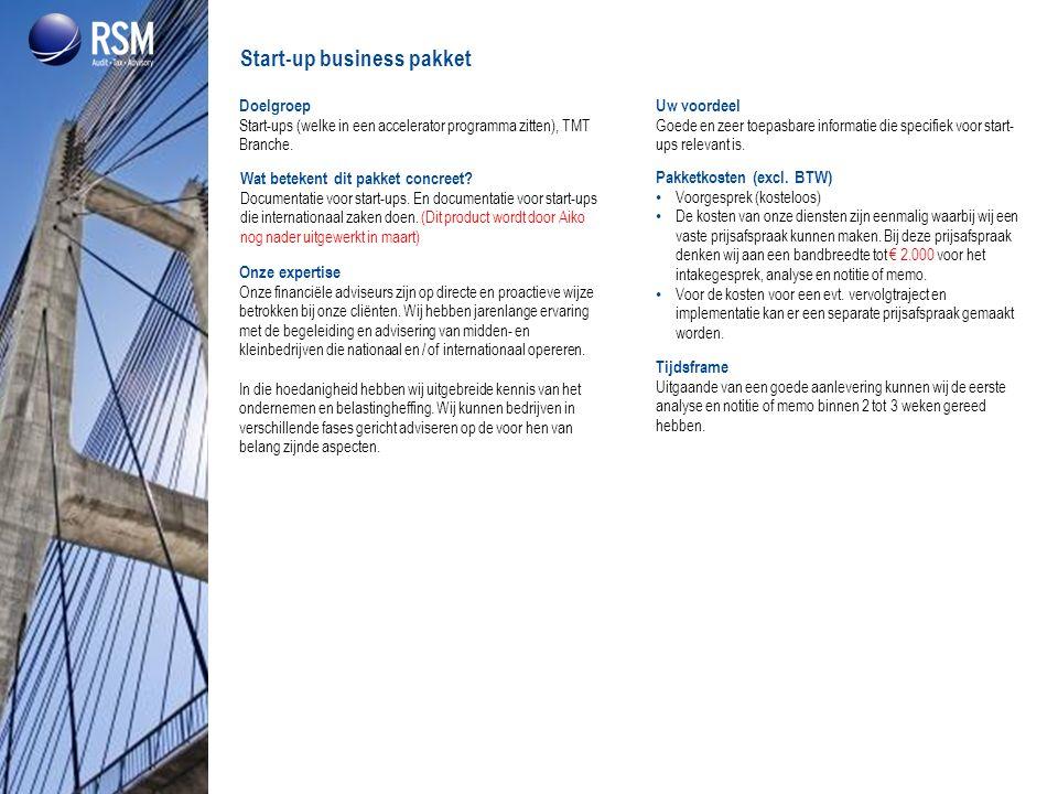 Start-up business pakket