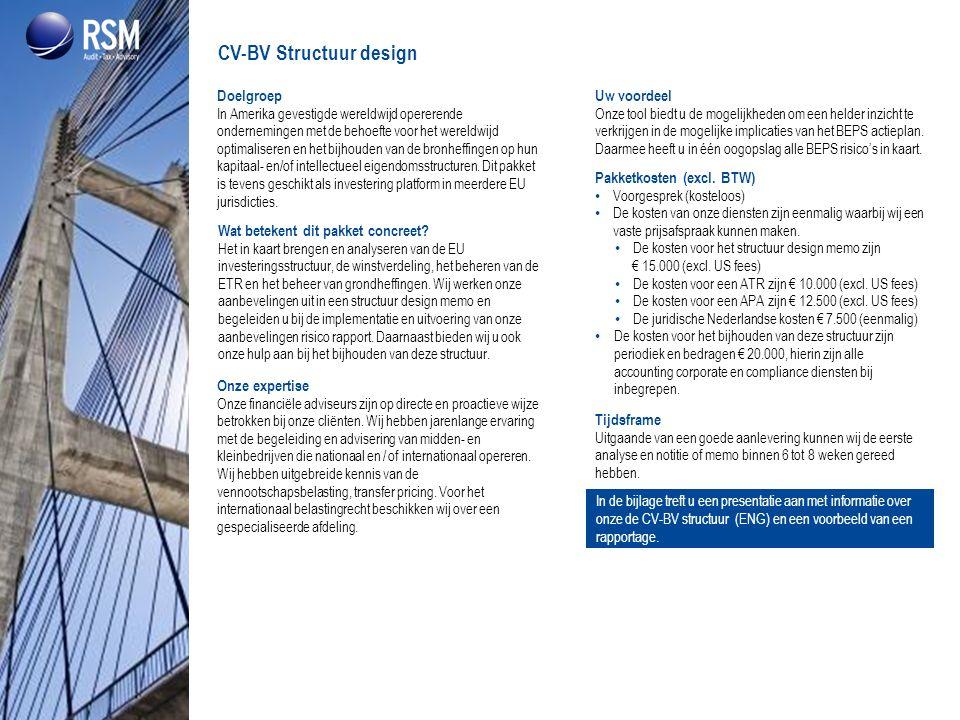 CV-BV Structuur design