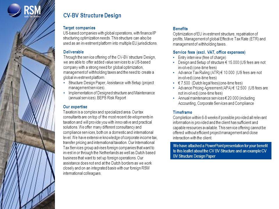 CV-BV Structure Design