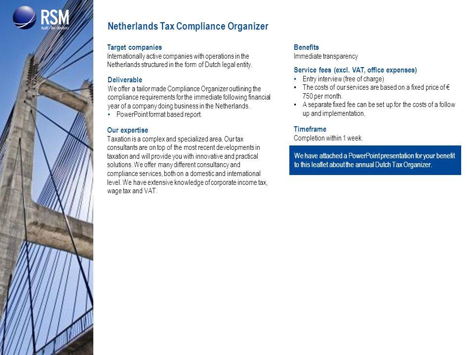 Netherlands Tax Compliance Organizer