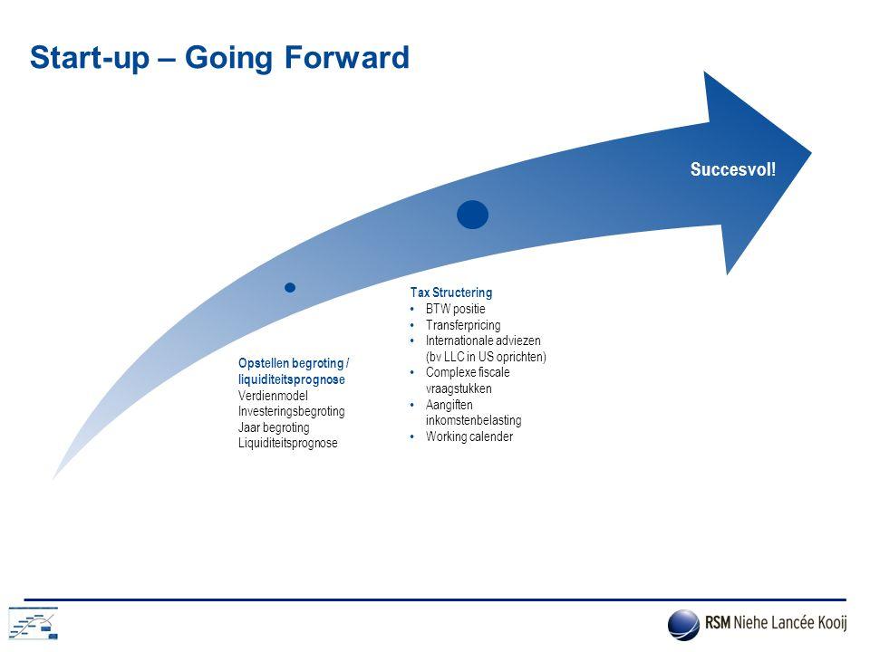 Start-up – Going Forward