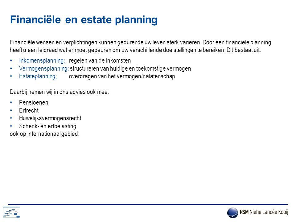 Financiële en estate planning