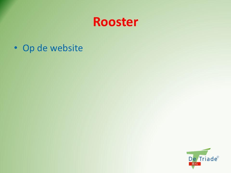 Rooster Op de website