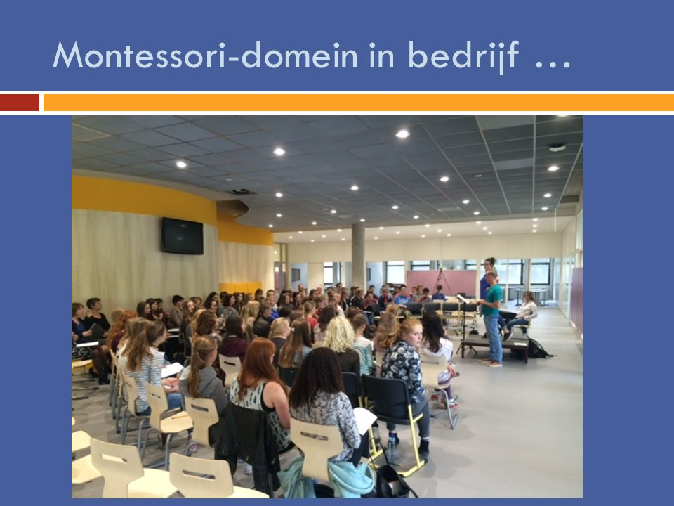 Montessori-domein in bedrijf …