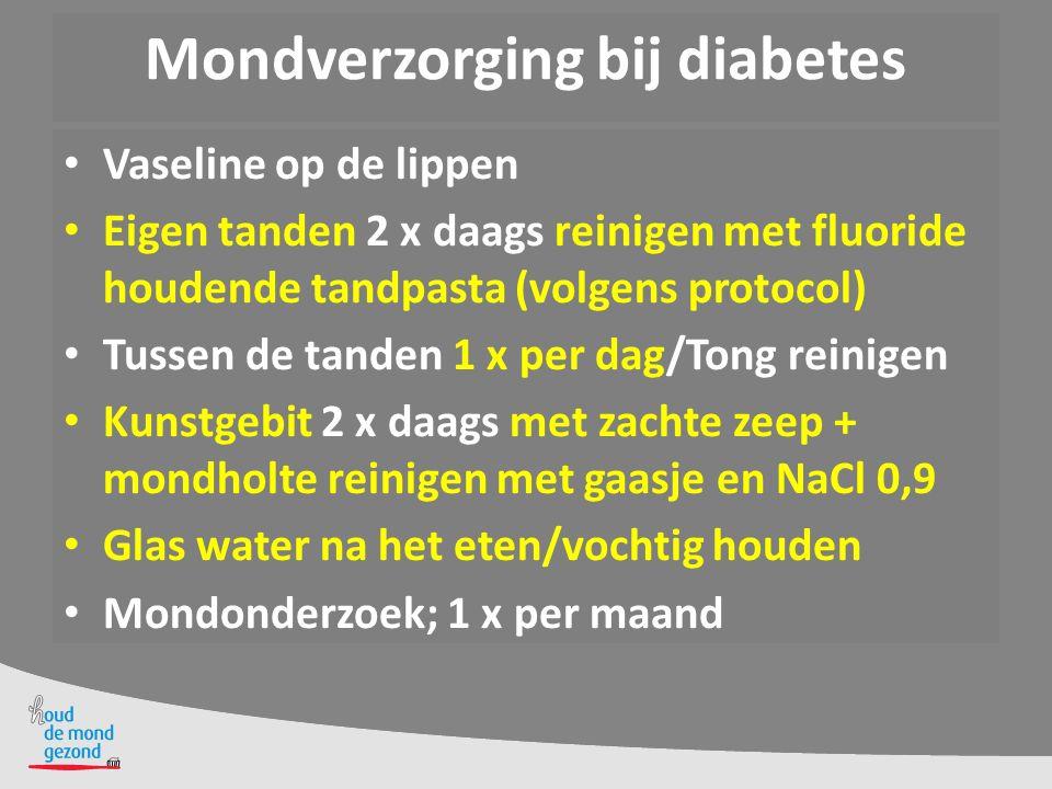 Mondverzorging bij diabetes