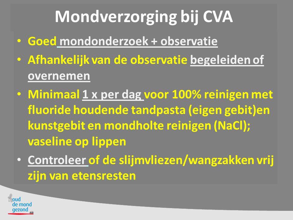 Mondverzorging bij CVA