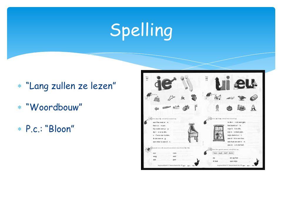 Spelling Lang zullen ze lezen Woordbouw P.c.: Bloon