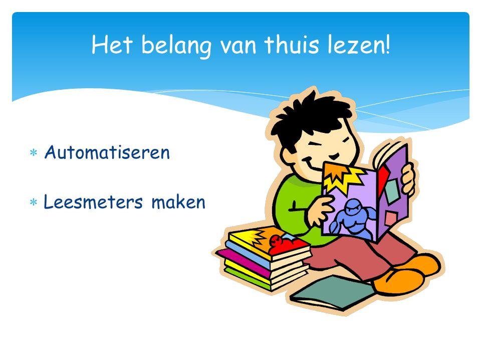 Het belang van thuis lezen!