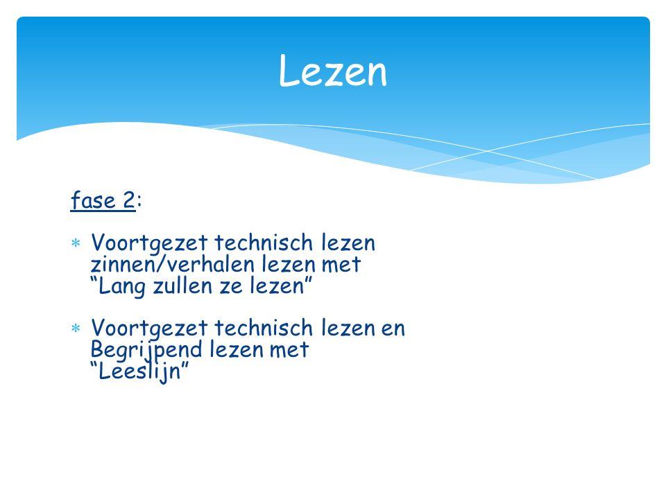 Lezen fase 2: Voortgezet technisch lezen zinnen/verhalen lezen met