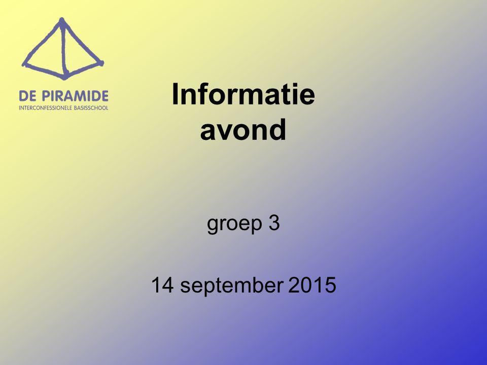 Informatie avond groep 3 14 september 2015