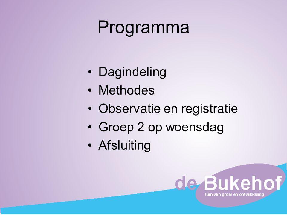 Programma Dagindeling Methodes Observatie en registratie
