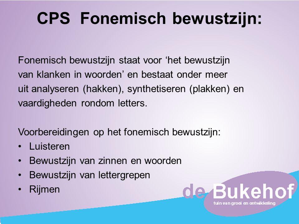 CPS Fonemisch bewustzijn:
