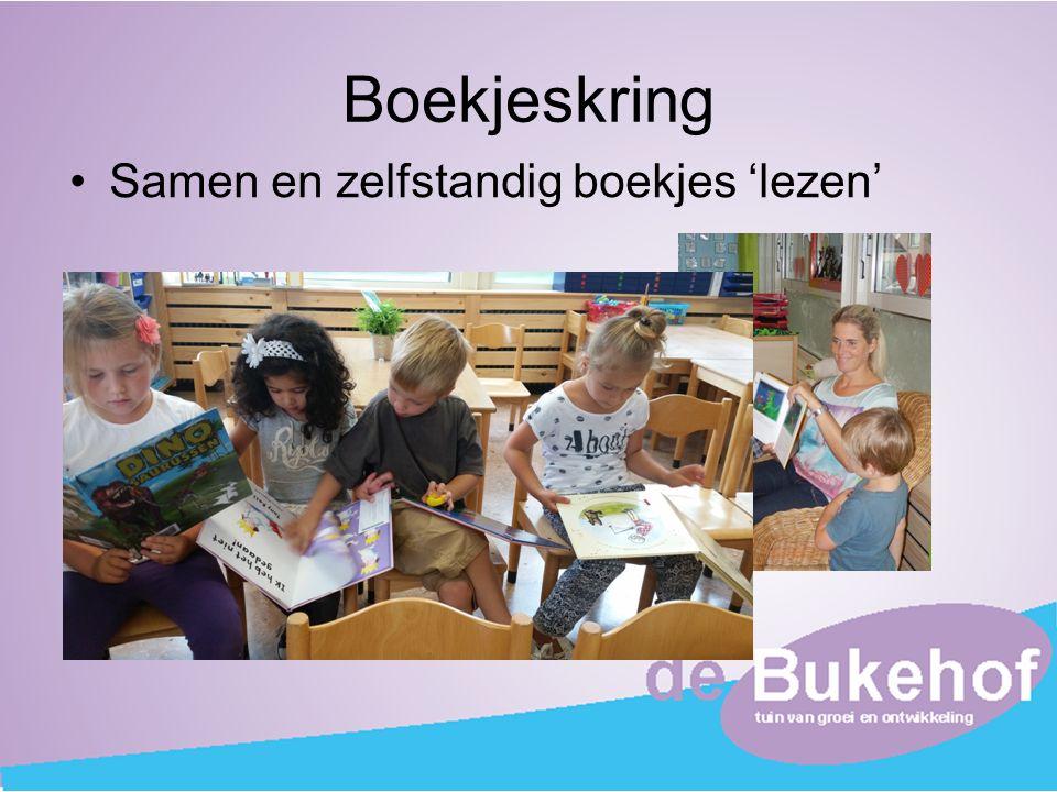 Boekjeskring Samen en zelfstandig boekjes 'lezen'