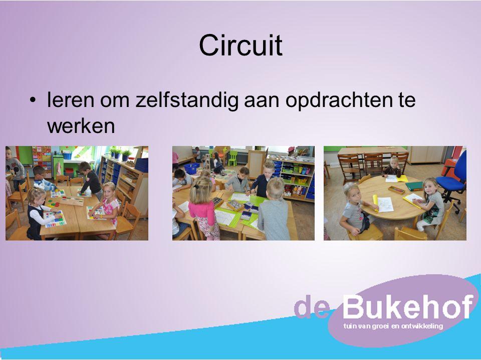 Circuit leren om zelfstandig aan opdrachten te werken