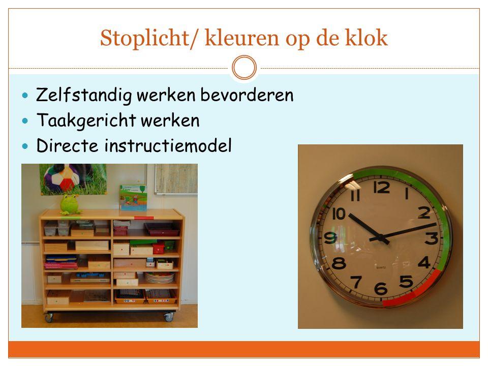 Stoplicht/ kleuren op de klok