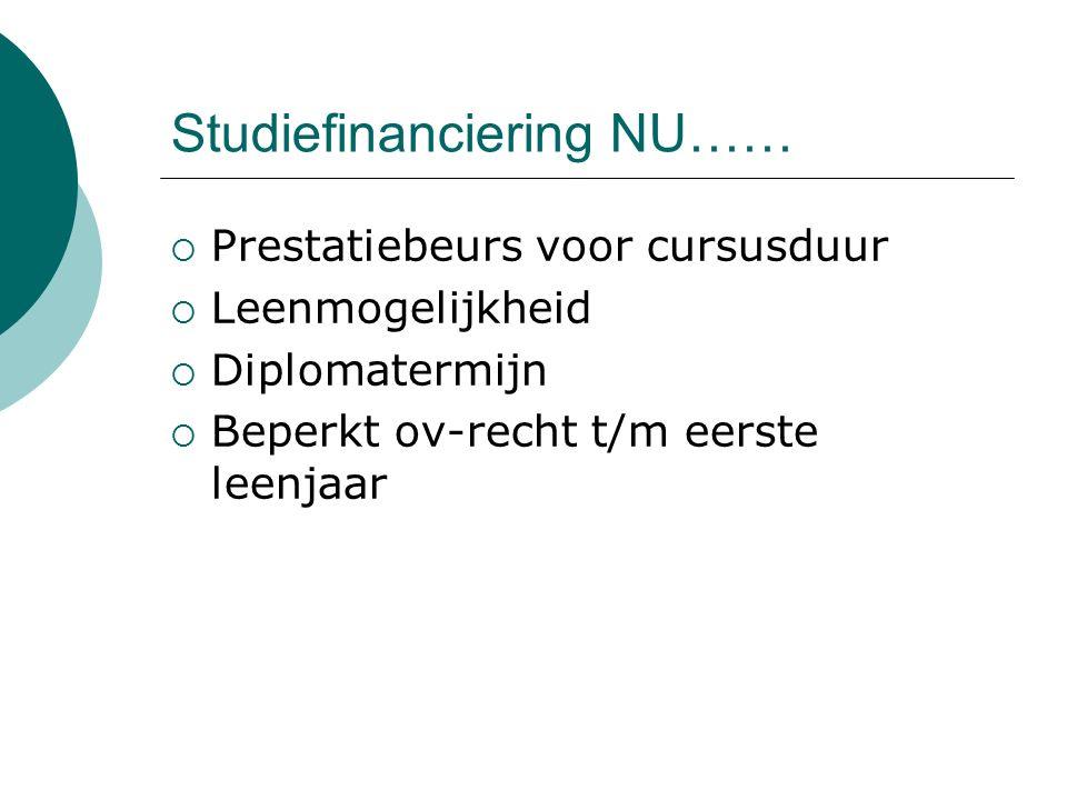 Studiefinanciering NU……