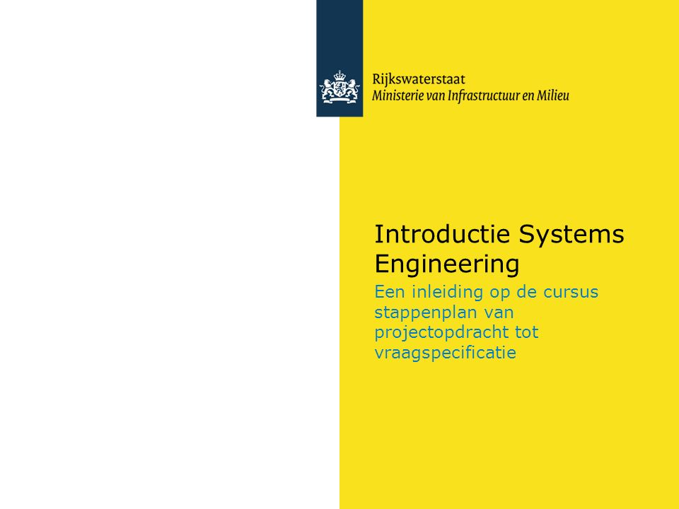 Introductie Systems Engineering