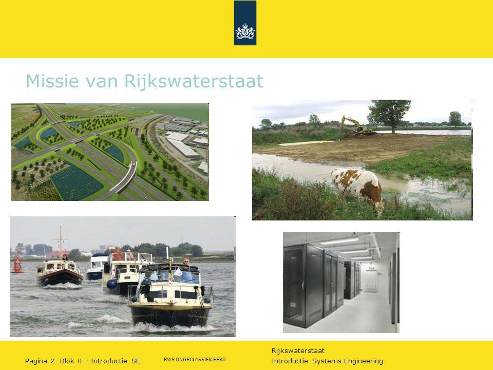 Missie van Rijkswaterstaat