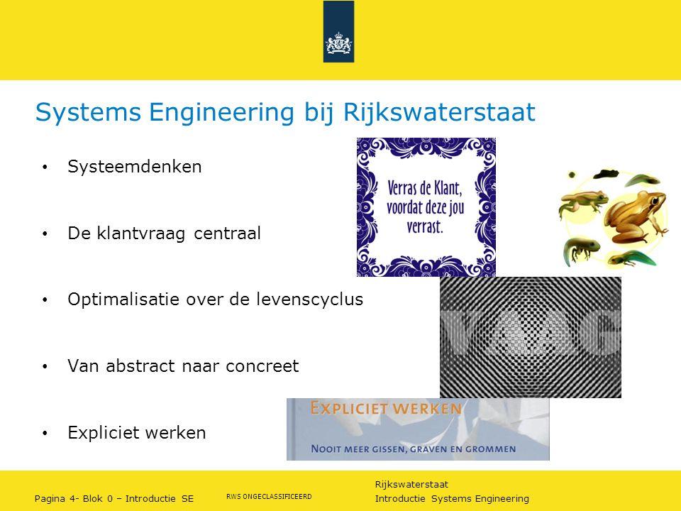 Systems Engineering bij Rijkswaterstaat