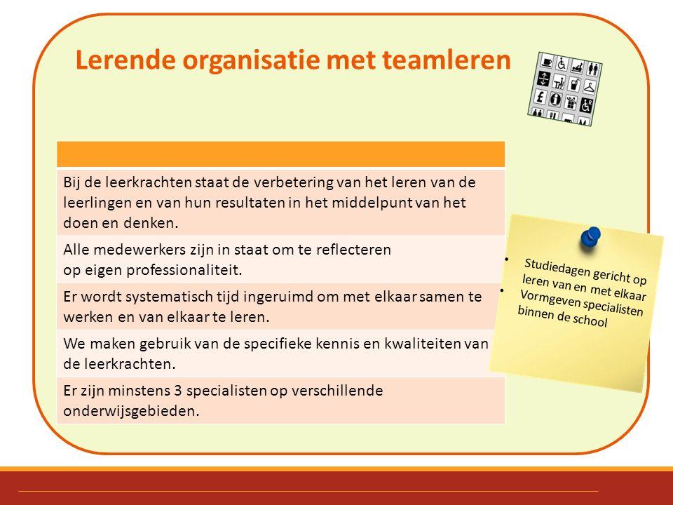 Lerende organisatie met teamleren