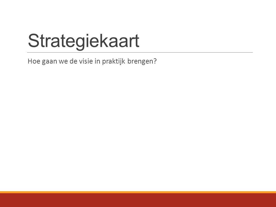 Strategiekaart Hoe gaan we de visie in praktijk brengen