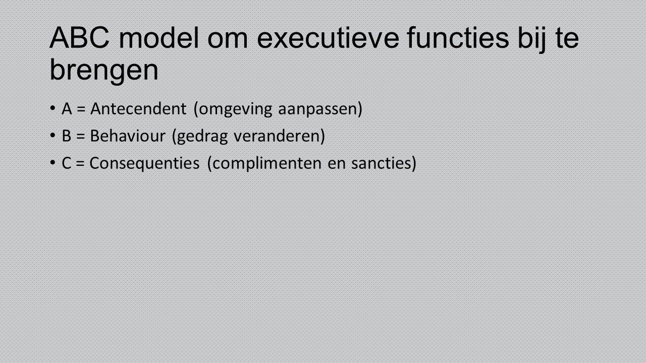 ABC model om executieve functies bij te brengen