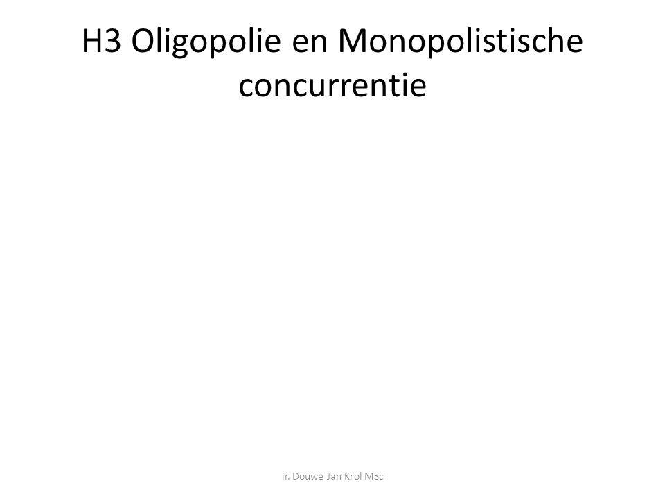 H3 Oligopolie en Monopolistische concurrentie