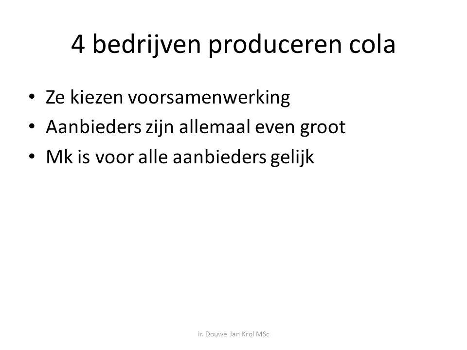 4 bedrijven produceren cola