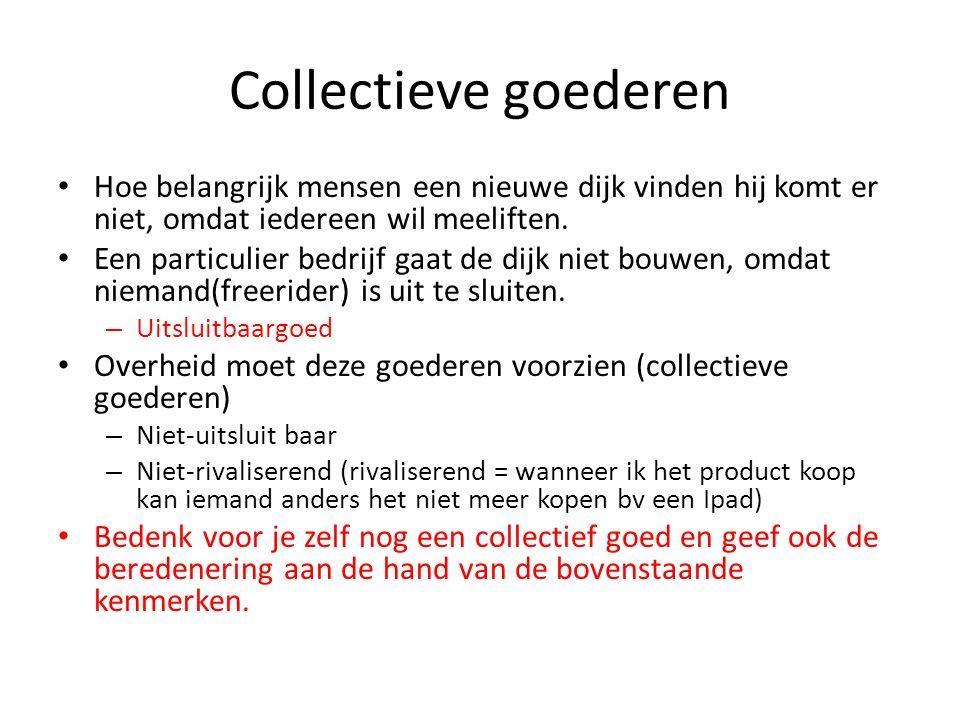 Collectieve goederen Hoe belangrijk mensen een nieuwe dijk vinden hij komt er niet, omdat iedereen wil meeliften.