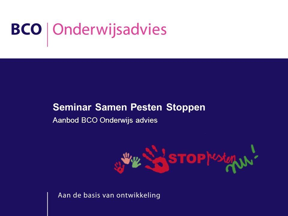 Seminar Samen Pesten Stoppen