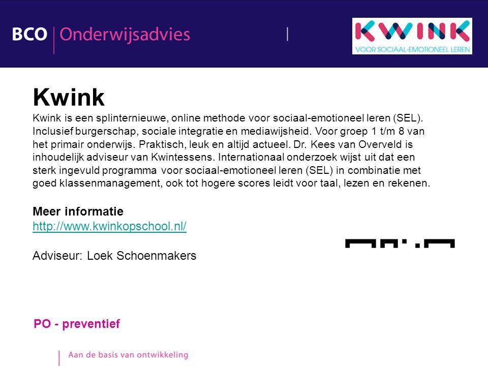 Kwink Meer informatie http://www.kwinkopschool.nl/
