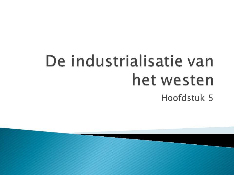 De industrialisatie van het westen