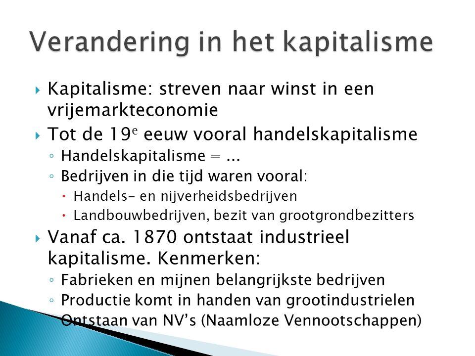 Verandering in het kapitalisme