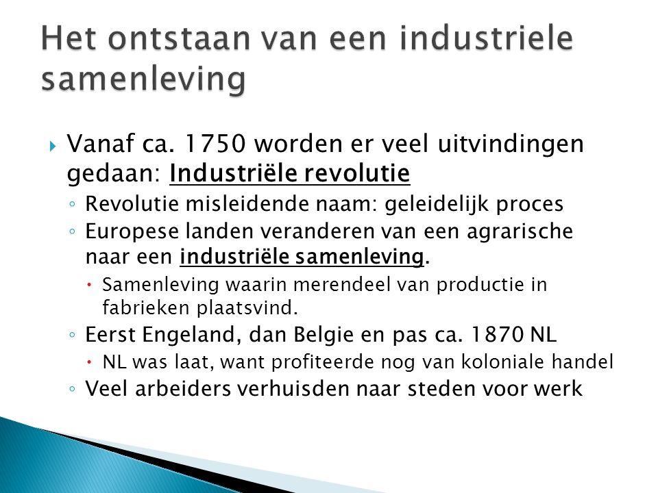 Het ontstaan van een industriele samenleving