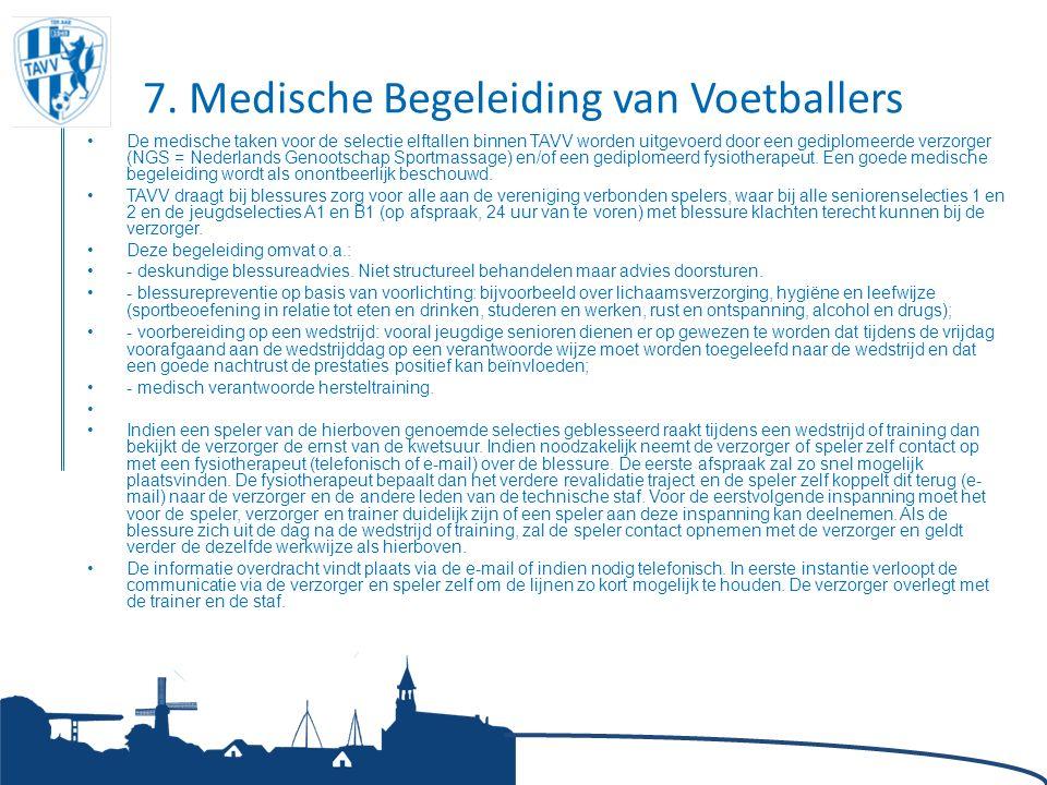 7. Medische Begeleiding van Voetballers