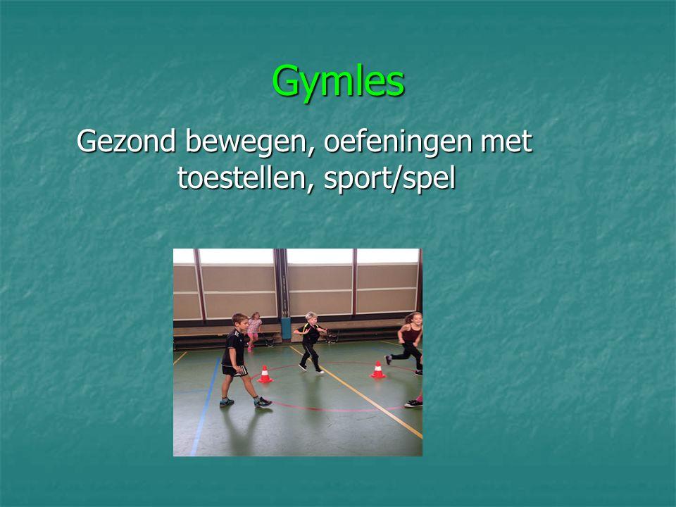 Gezond bewegen, oefeningen met toestellen, sport/spel