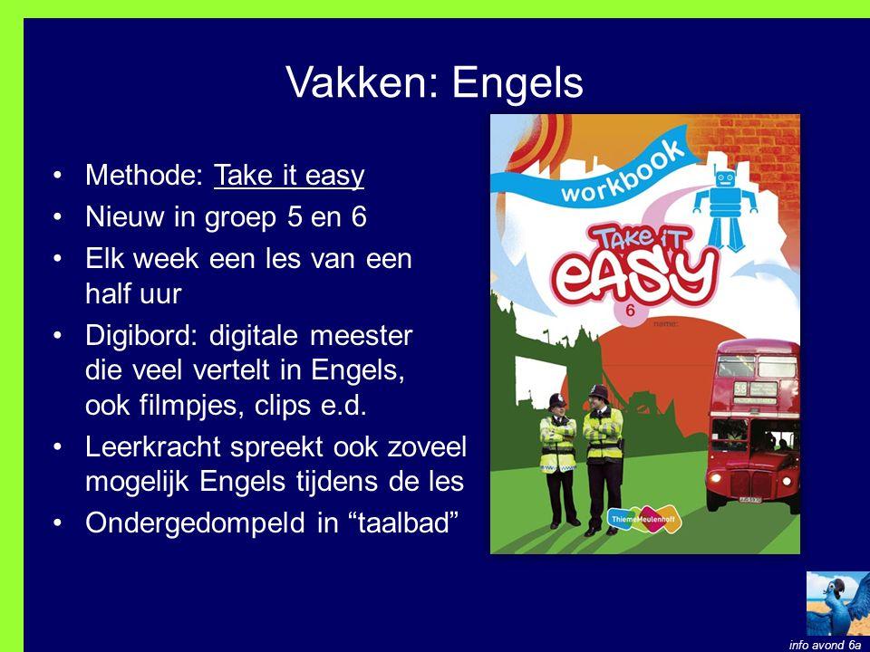 Vakken: Engels Methode: Take it easy Nieuw in groep 5 en 6