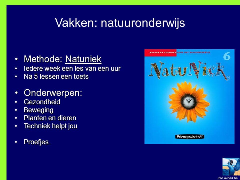 Vakken: natuuronderwijs