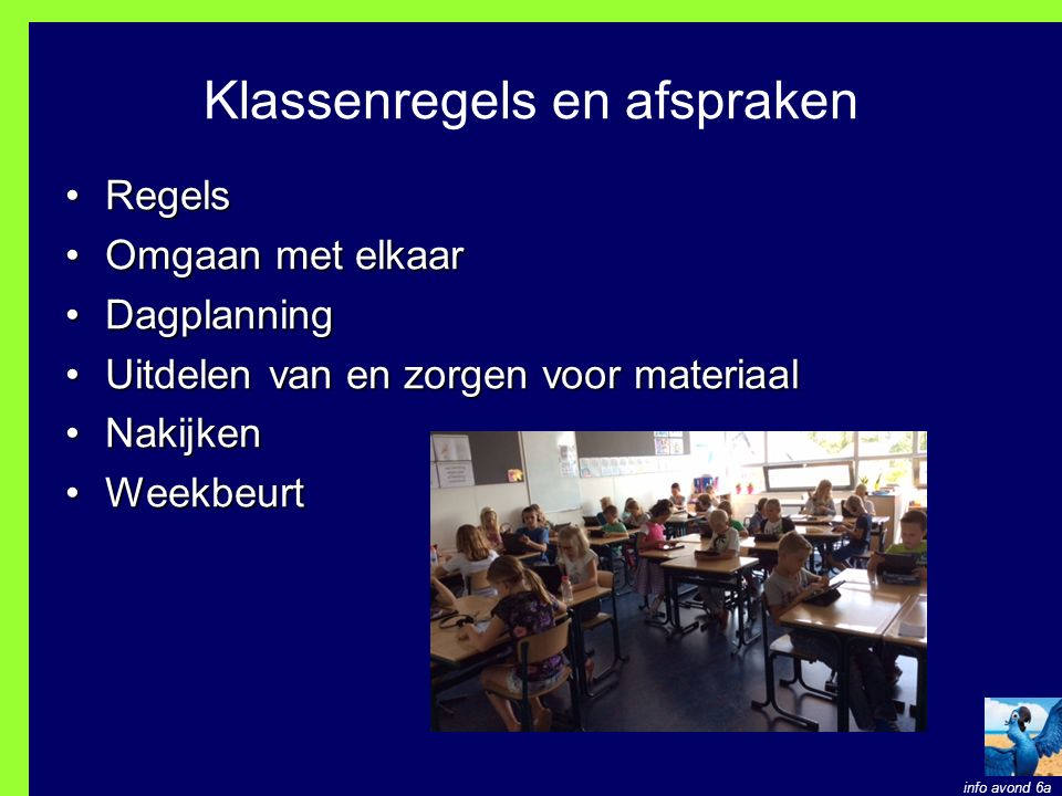 Klassenregels en afspraken