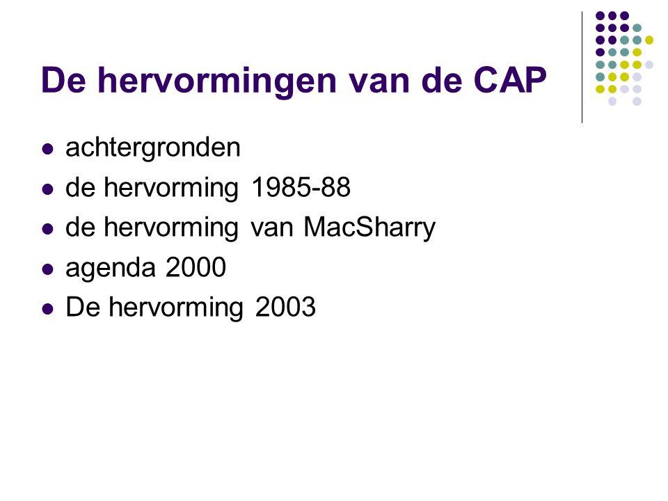 De hervormingen van de CAP