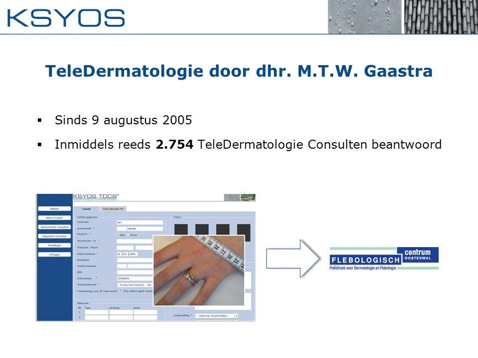 TeleDermatologie door dhr. M.T.W. Gaastra